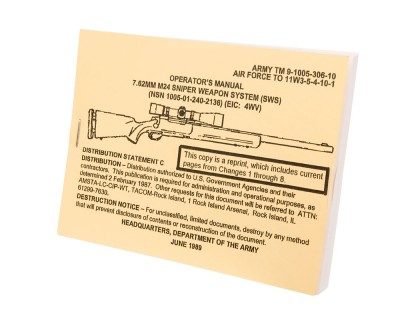 Operator Manual 7.62 M24 Sniper Weapon System SWS