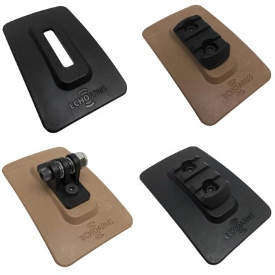 Fast Attach M-Lock Plate, M-Lock Plate w/ GoPro Mount, Magpul 3 Slot Aluminum Rail, and Polymer Rail