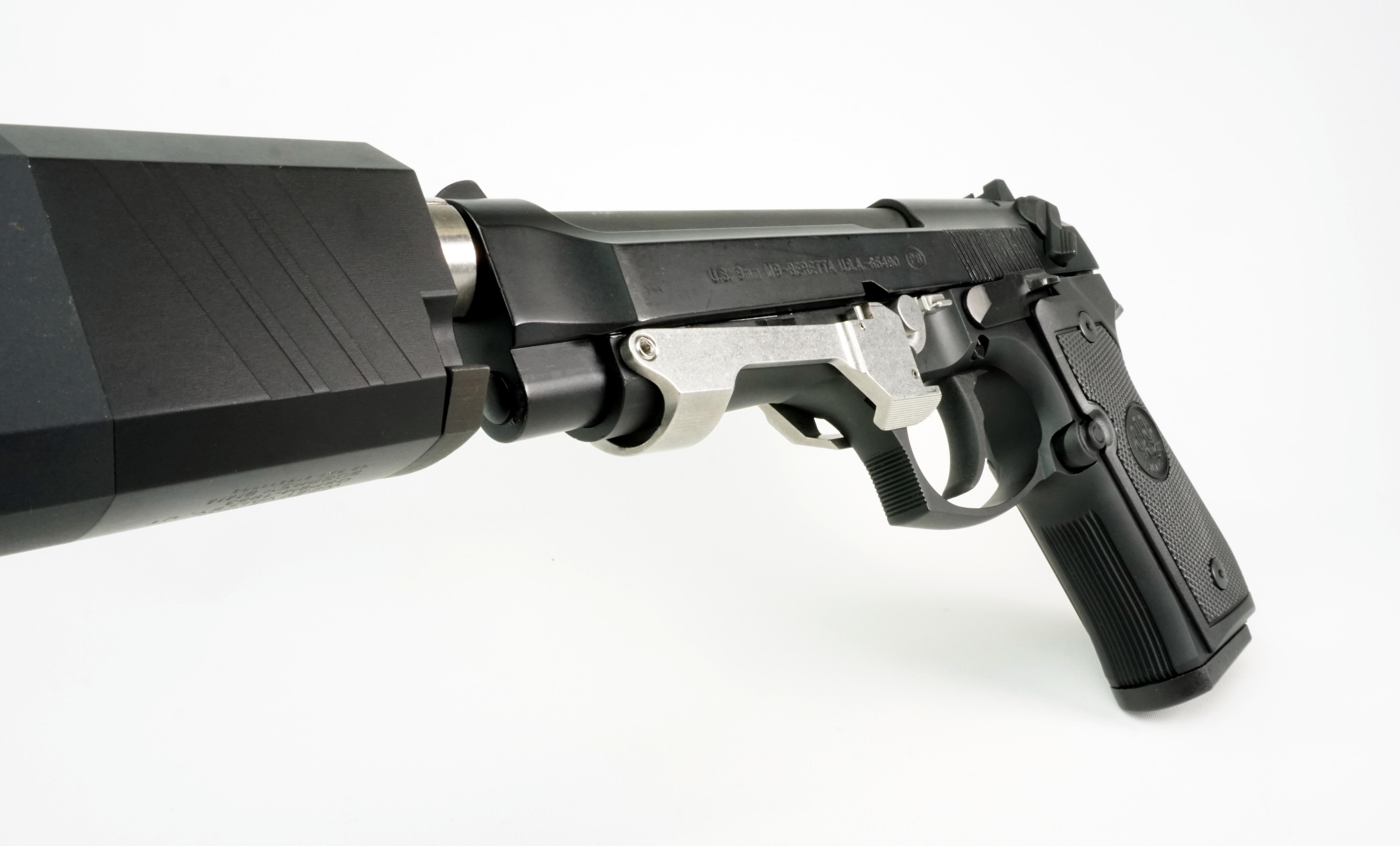 slide locked beretta m9 mod armory