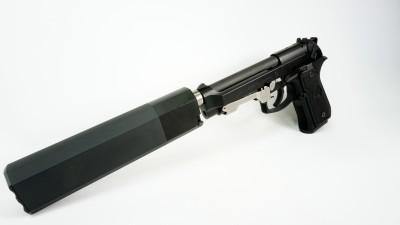 Slide Locked Beretta M9