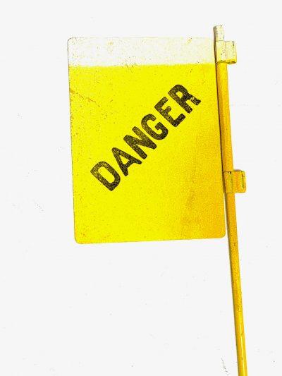 Landmine Danger Metal Flag