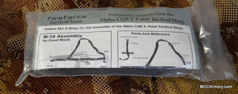 Fire Force Alpha CQB 3-Point Tactical Sling M16