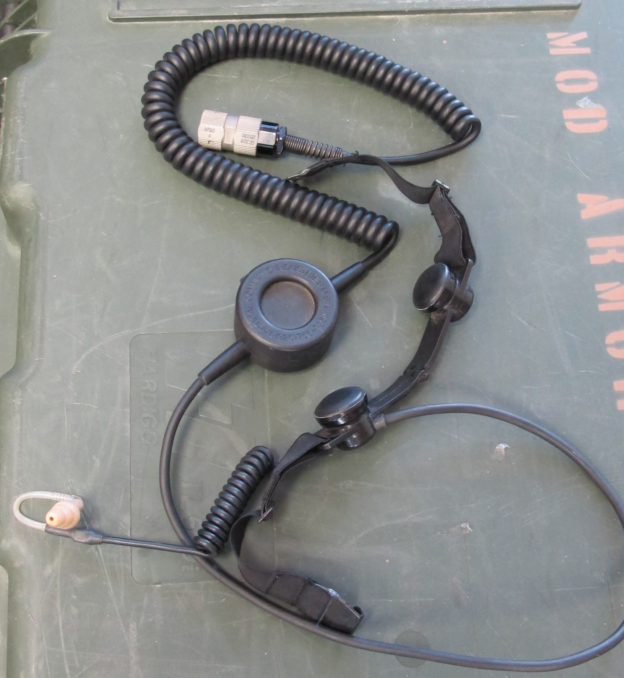 Military Tactical Command PTT Push to Talk & Throat Mic MBITR